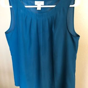 LOFT Teal Sleeveless Work Top
